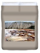 Hymen Terrace Yellowstone National Park Duvet Cover