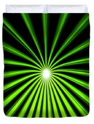 Hyperspace Electric Green Portrait Duvet Cover