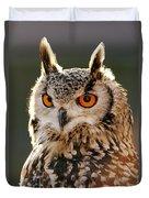 Hypnoteyes  Eurasian Eagle Owl Duvet Cover