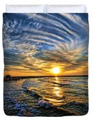 Hypnotic Sunset At Israel Duvet Cover by Ron Shoshani