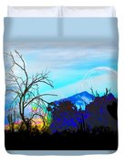 I Am And You Are The Moonset  Acknowledging And Accepting Our Past Mistakes- Autumn 1 Duvet Cover