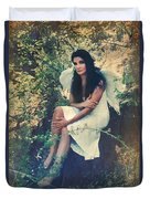 I Believe In Angels Duvet Cover by Laurie Search