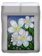 I Bloom With Courage Duvet Cover