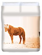 I Came Out Of Nothing To Meet You Here In Nomansland  Duvet Cover