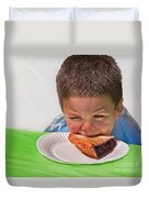I Don't Want To - Pie Eating Contest Art Prints Duvet Cover