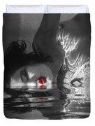 I Float On Red Duvet Cover