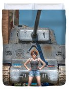 I Have A Tank.  Your Argument Is Invalid Duvet Cover