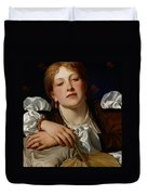 I Know A Maiden Fair To See Duvet Cover by Charles Edward Perugini