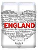 I Love England Duvet Cover