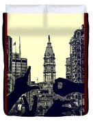 I Love Philly Duvet Cover by Bill Cannon
