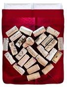 I Love Red Wine - Square Duvet Cover