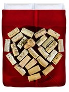 I Love Red Wine - Vertical Duvet Cover