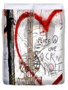 I Love Rocknroll Duvet Cover