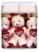 I Love You Bears Duvet Cover