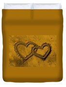 I Love You In The Sand Duvet Cover