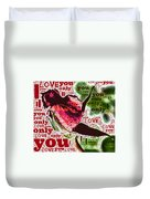 I Love You Only Abstract Duvet Cover