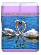I Promise To Love You Poster By Diana Sainz Duvet Cover