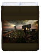 I Stand Alone On An Emerald Isle Duvet Cover