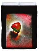 I Vote For A Really Hot Sweet Pepper Duvet Cover