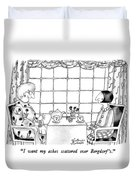 I Want My Ashes Scattered Over Bergdorf's Duvet Cover by Victoria Roberts