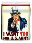 I Want You For U S Army Duvet Cover
