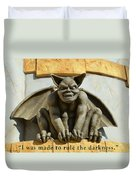 I Was Made To Rule Gargoyle Santa Cruz California Duvet Cover