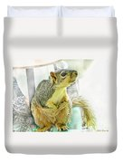 I Wasn't Me   The Cardinal Did It Duvet Cover