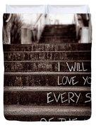I Will Love You Duvet Cover