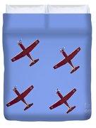 Iaf Flight Academy Aerobatics Team 4 Duvet Cover