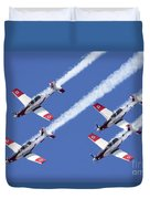 Iaf Flight Academy Aerobatics Team 6 Duvet Cover