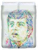 Ian Curtis Portrait Duvet Cover