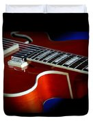 Ibanez Af75 Hollowbody Electric Guitar Cutaway Detail Duvet Cover