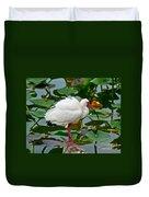 Ibis In Pond Duvet Cover