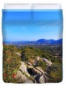 Ibiza Mountains Duvet Cover