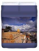 Ibiza Town Walls Duvet Cover