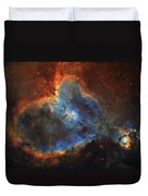 Ic 1805, The Heart Nebula In Cassiopeia Duvet Cover
