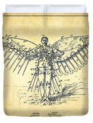 Icarus Flying Machine Patent Drawing-vintage Duvet Cover