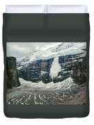 1m3545-01-ice Avalanche On Mt. Victoria Duvet Cover