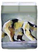 Ice Bear Duvet Cover by Mark Adlington
