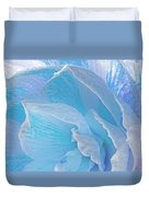 Ice Blue Amaryllis Abstract Duvet Cover