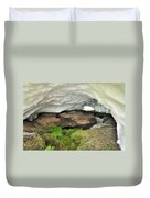 Ice Cave At The Mountains Duvet Cover