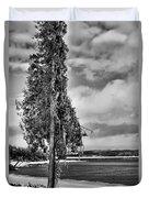 Ice Coated Tree Duvet Cover