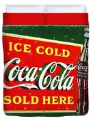 Ice Cold Coca-cola Sold Here Duvet Cover