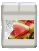 Ice Cold Watermelon Slices 1 Duvet Cover by Andee Design