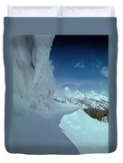 1m9340-ice Cornices, Jackson Hole Duvet Cover