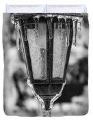 Ice Covered Lantern Duvet Cover