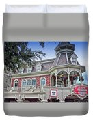Ice Cream Parlor Main Street Walt Disney World Duvet Cover