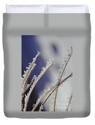 Ice Crystals On Fireweed Fairbanks  Alaska By Pat Hathaway 1969 Duvet Cover