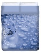 Ice Cube With Copyspace Duvet Cover
