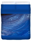 Ice Curve In Blue Duvet Cover